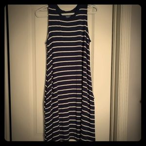 Sleeveless Midi Knit Dress w/ Pockets